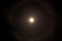 Lunar halo with Mars
