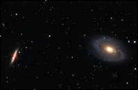 M81 and M82 Bode's galaxy and Cigar galaxy