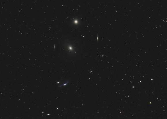 M84 and M86 Markarian's Chain (western portion)
