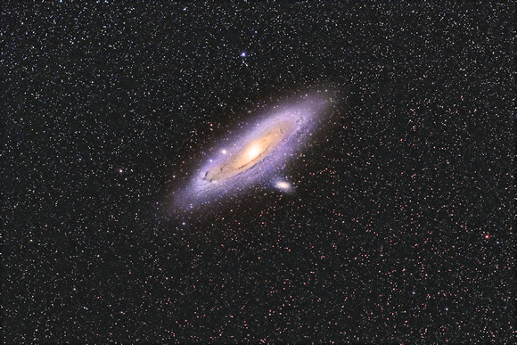 M31, M32 and M110 the Andromeda galaxy