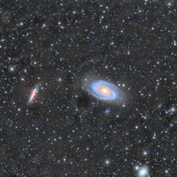 M81 and M82 Bode's galaxy and Cigar galaxy widefield